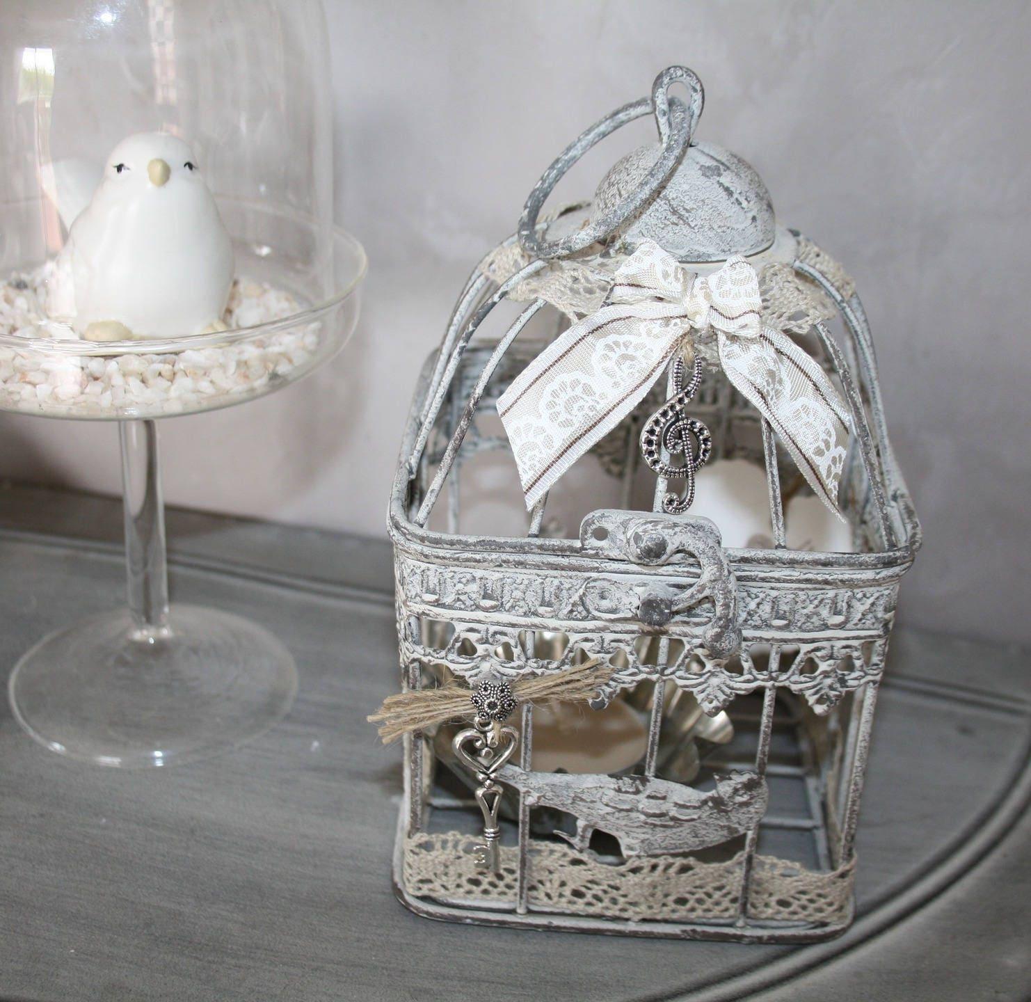 Cage oiseaux d corative avec photophore for Cage a oiseaux decorative