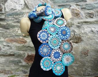 "Scarf ""Caribbean"" handmade crochet - one size"