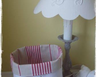 Vide poche toile à matelas et coton chanvre blanc avec étoile en lin