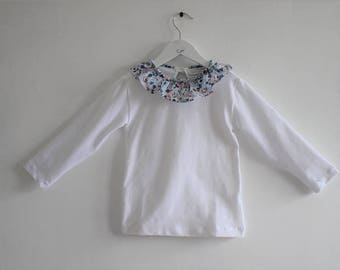 T-shirt with liberty collar from 2 to 6 years