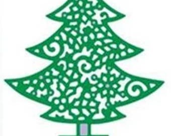 scrapbooking Christmas tree cutout