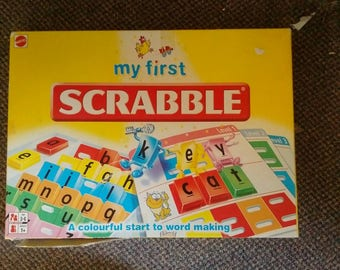 Kids Toddlers My First Scrabble Game Educational,Fun Play by Mattel Complete