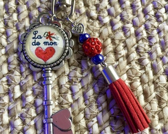 The key to my heart 1 bag charm