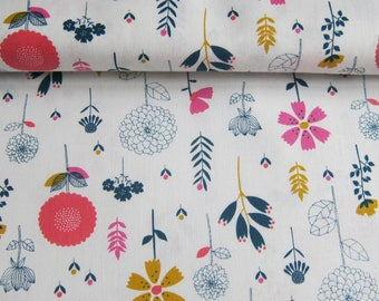 """Cotton candy"" Dashwood fabric gr flowers 110cm"