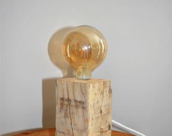 Cube lamp Driftwood