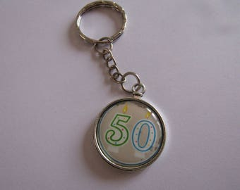 SALE 50 silver keychain