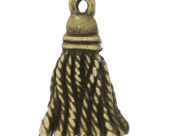 10 tassels in antique bronze size 21mm x12mm