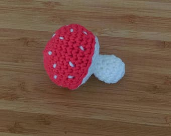 Crocheted cotton red mushroom to play the market Dinette sets