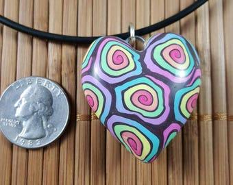 Rainbow Swirl Heart #1