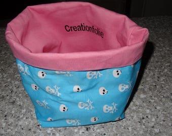 "basket Tote ""death's head"""