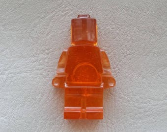 Magnets Orange plastic toy man