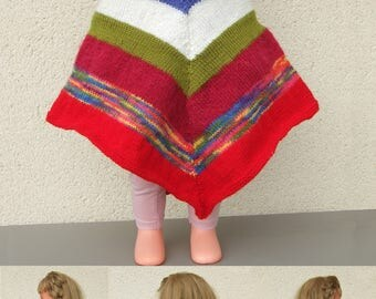 Ponchos knit for girls