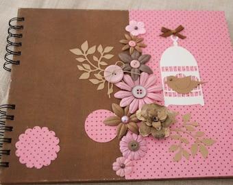 Handmade photo album spring