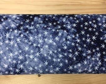 viscose de coton imprimé etoiles degradé bleu marine  135 cm largeur