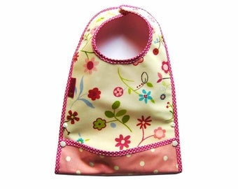 Bib oilcloth with flower pattern system