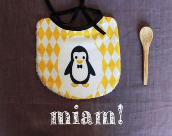 Penguin pattern bib