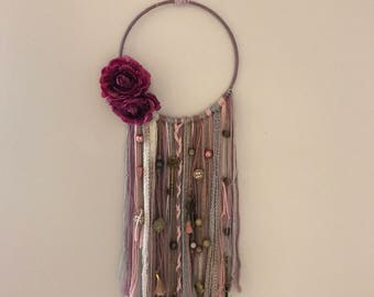 Purple boho dreamcatcher