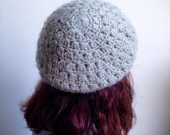 Women's beret in wool and mohair