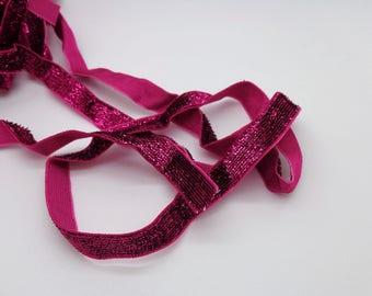 1 meter fuchsia polyester Ribbon
