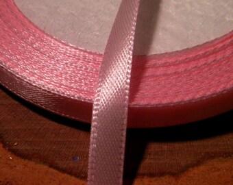 Ribbon satin 6 mm - pink - SA5 10 M