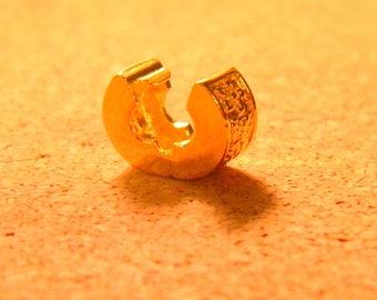 2 clip clasp - gold - blocker stopper for European bead bracelet style pandor @ 11 x 6 mm-C60 stylized flower