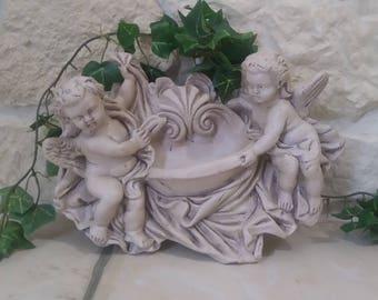 """Angels"" hanging decoration old patina"