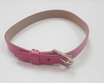 1 leather 22 cm colour bracelet hot pink