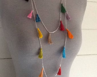 Tassels necklace multicolor