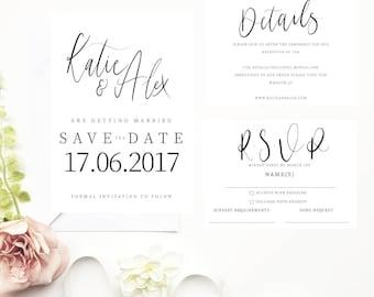Katie Wedding Invitation Suite