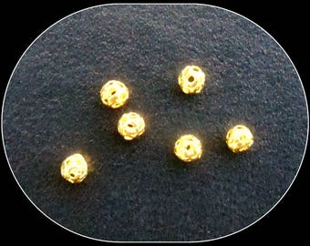 Metal filigree 4 mm gold - 10 beads
