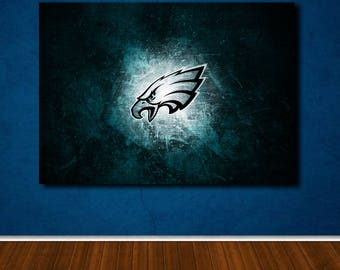 Philadelphia Eagles poster canvas wall art, wall decor, home decor, print A1 A2 A3 A4 sizes, big framed poster, gift for him, birthday gift
