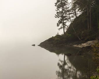 Foggy morning at Sund Rock