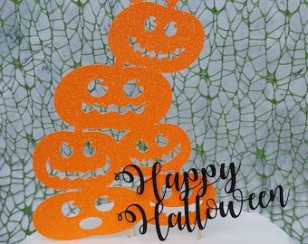 Pumpkin Stack / Happy Halloween Cake Topper