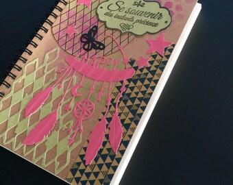Decorated notebook dream dreams, memories, Kraft, scrapbooking