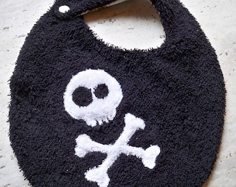 Funny bib Terry pattern skull pirate