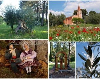 Photo 30X40cm jumble themed provencal village of St. Anne