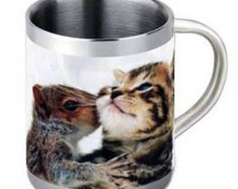 Stainless steel personalized with your photo mug