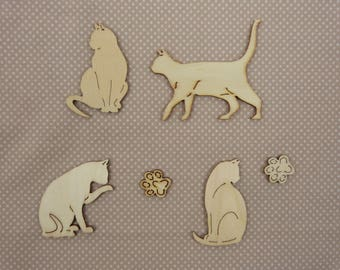 About wooden embellishment: cat