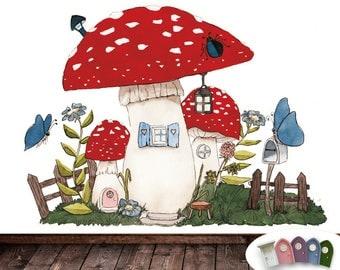 IMP door wall decoration Mushroom House