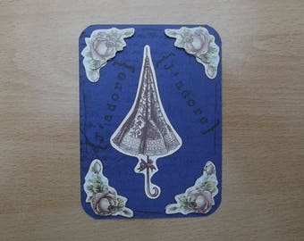 Small blue card, decor for your scrapbooking creations.