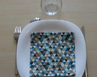 Napkin - 34 x 34 cm - triangles pattern