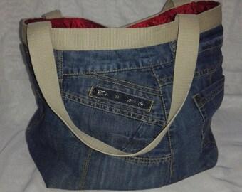 Jeans hand bag