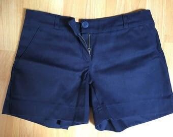 Dark blue shorts for women