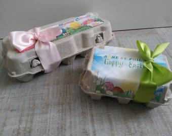 Personalized to garnish - egg box Theme Easter