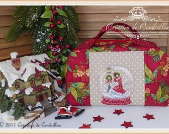 Christmas bag, Cross stitch embroidery,counted cross stitch,embroidery cross stitch custom