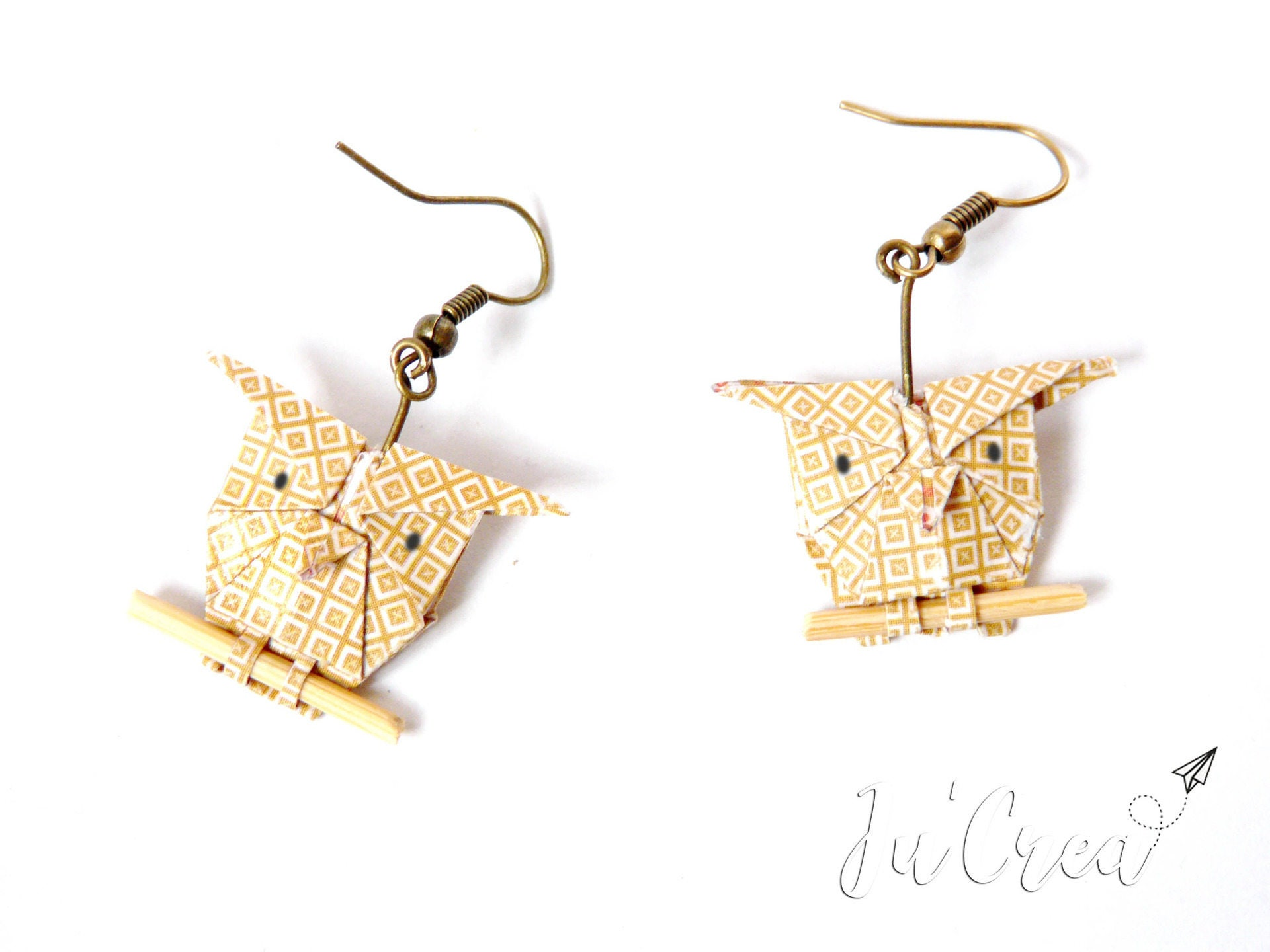 Origami Owl Earrings Mustard Yellow Owl E10211404451557783m