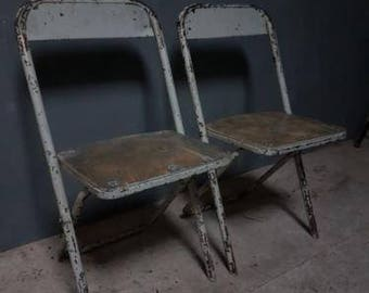 Old Steel folding chairs