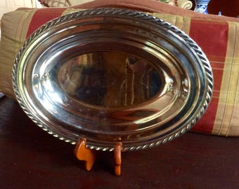 Wm Rogers Silver Plate Serving Dish