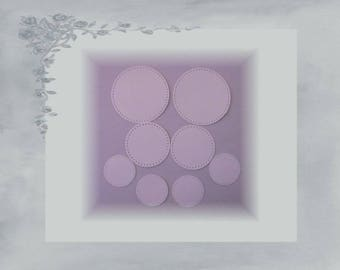 LPPO-0001 - cut round labels paper card stock 230 gr - white