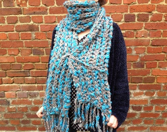 """Very large Collection, hand knitted scarf """"Bodach an storr"""""""